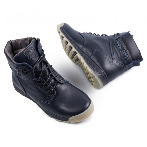 Ботинок Кет синяя кожа