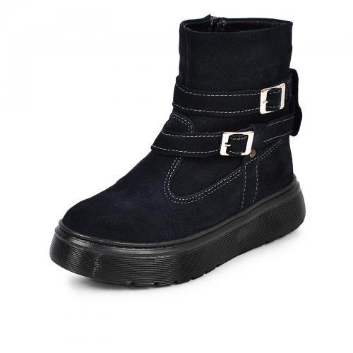 Ботинок 2 П/1 синий замш