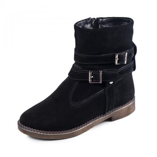 Ботинок 2 П черный замш