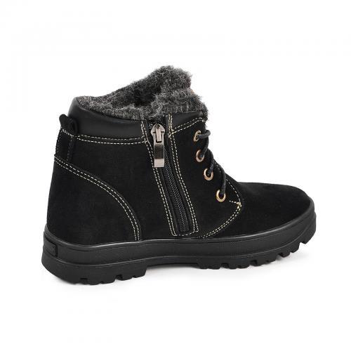 Ботинок Кид черный замш