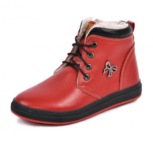 Ботинок Кид красная  кожа комфорт
