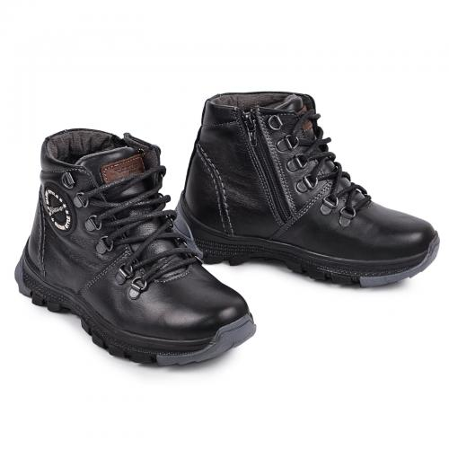 Ботинок Джерси черная кожа