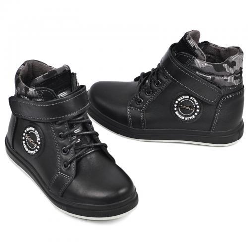 Ботинок Конверс черная кожа