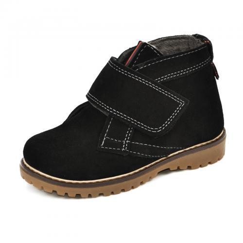 Ботинок НФ липучка черный замш
