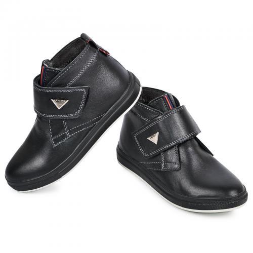 Ботинок НФ липучка черная кожа комфорт