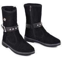 Ботинок ПП черный замш
