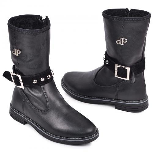 Ботинок ПП черная кожа