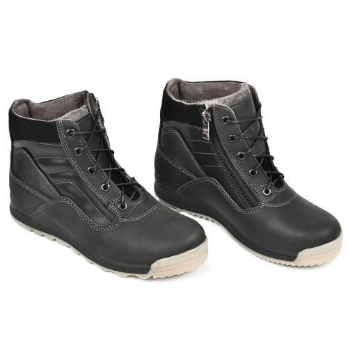 Ботинок  Скипер черный крейзи