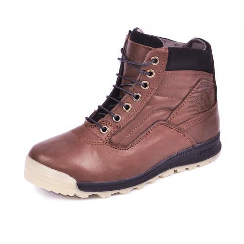 Ботинок  Скипер коричневый крейзи