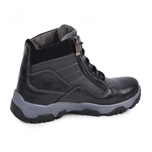 Ботинок Скипер черная кожа