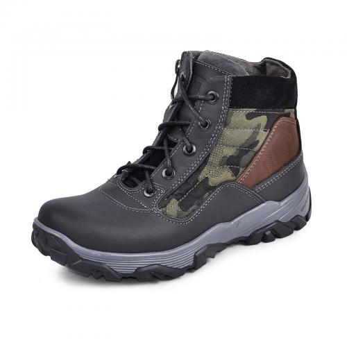 Ботинок Скипер черный мат милитари