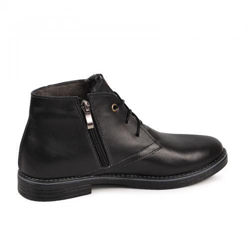 Ботинок  Стайл черная  кожа
