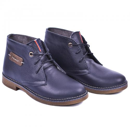 Ботинок  Стайл синяя  кожа