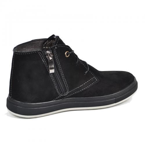 Ботинок Стайл черный нубук комфорт