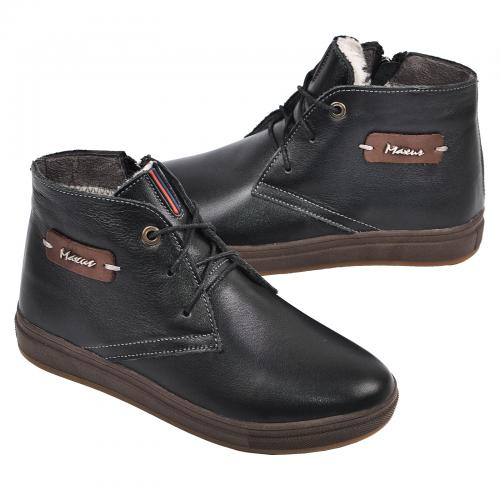 Ботинок  Стайл черная  кожа комфорт