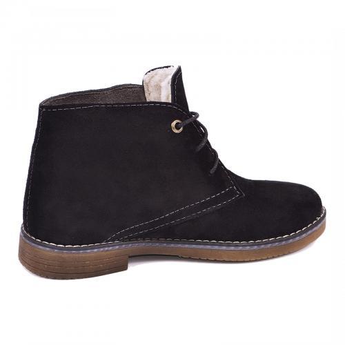 Ботинок Стайл черный замш