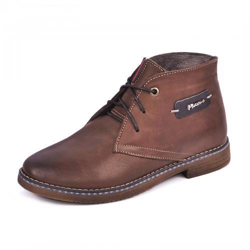 Ботинок Стайл коричневая кожа