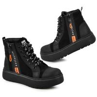 Ботинок Харли черный мат, черный замш