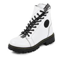 Ботинок Кенди белая кожа флотар