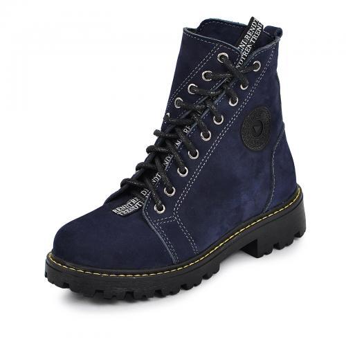 Ботинок Кенди чернильный синий нубук