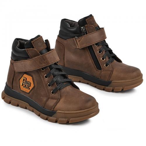 Ботинок Конверс коричневая кожа