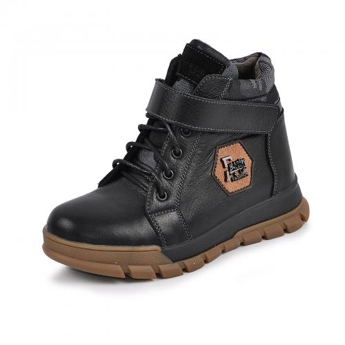 Ботинок Конверс черная кожа милитари
