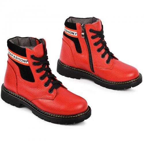 Ботинок Сноу красная кожа
