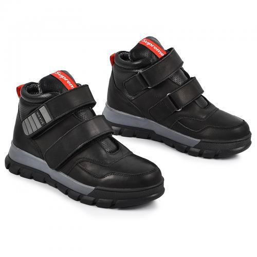 Ботинок Супра 3 тес черная кожа