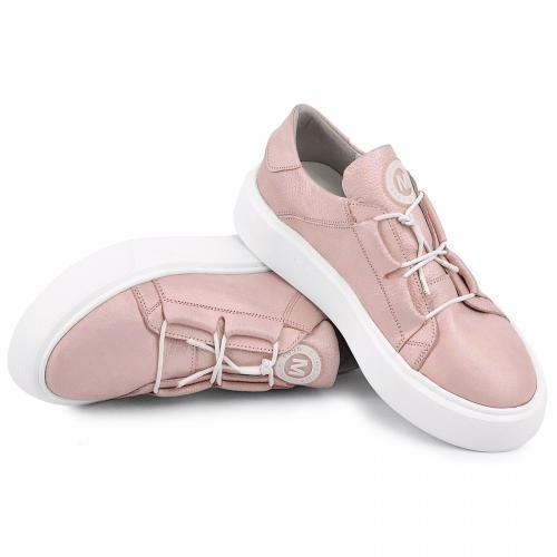 Кеды 1966 розовый сатин кожа