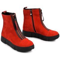Ботинок 1903 красный замш