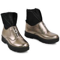 Ботинок 1904 бронза кожа замш