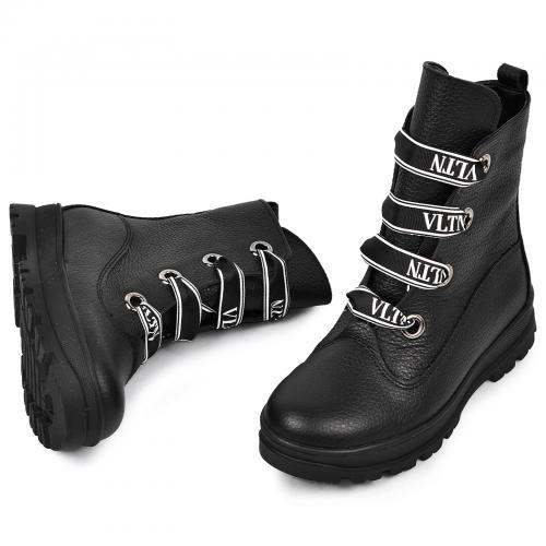 Ботинок 1910 черная кожа флотар