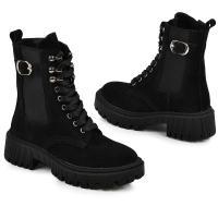 Ботинок Берта черный замш