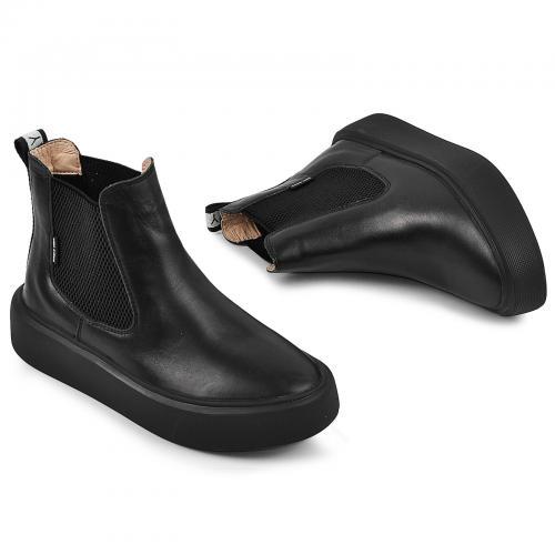 Ботинок Челси 2 черная кожа д