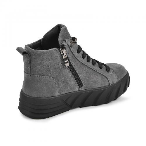 Ботинок Мидина серый замш д