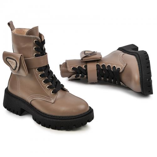 Ботинок Прада коричневая кожа