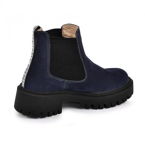 Ботинок Санта чернильный нубук