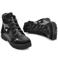 Ботинок Клок черная кожа замш