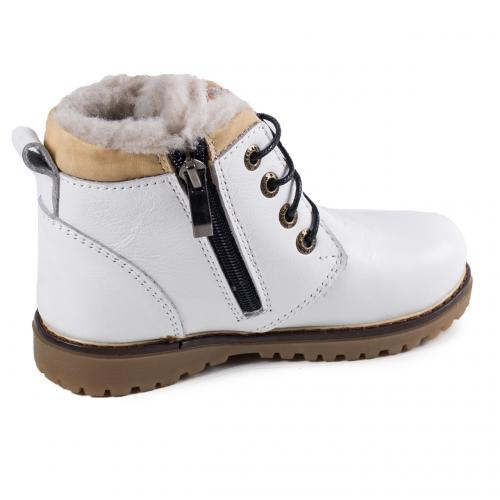 Ботинок Кид белая кожа