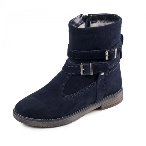Ботинок 2 П синий замш