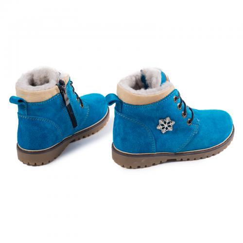 Ботинок Кид голубой замш