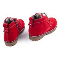 Ботинок НФ шнурок красный замш