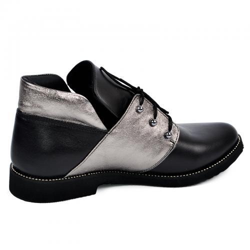 310 черный серебро кожа