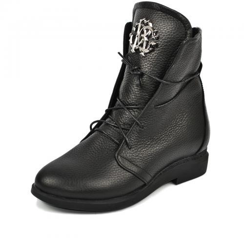 Ботинок 314 черная кожа