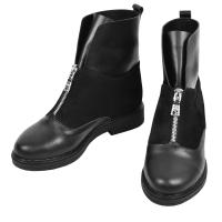 Ботинок 320 черная кожа замш
