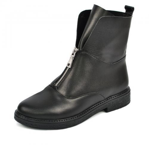 Ботинок 320 черная кожа