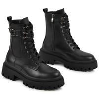 Ботинок Берта черная кожа