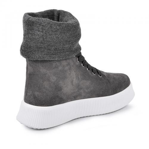 Ботинок серый замш б с довязом