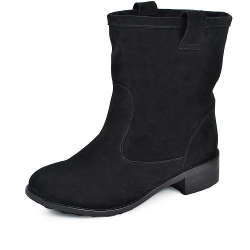 Ботинок Д 2 черный замш