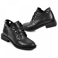 Ботинок 333 черная кожа